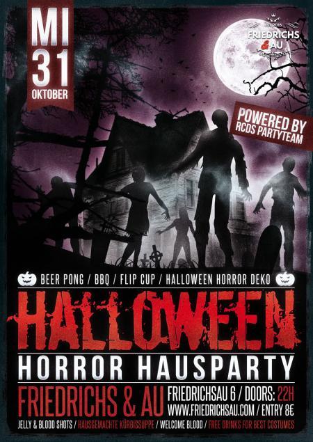 HALLOWEEN HORROR HAUSPARTY: Ulms gruseligste Studentenparty zu Halloween! am Mittwoch, den 31.10.18 um 22:00 Uhr, Friedrichs & Au, Friedrichsau 6, Ulm